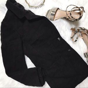 J. Jill Black Wool Coat